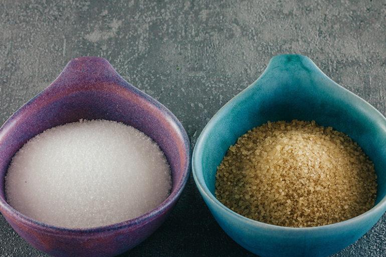 Zucker, Zucker vermeiden, brauner Zucker, Blutzucker, Zuckerfalle, Zucker ungesund