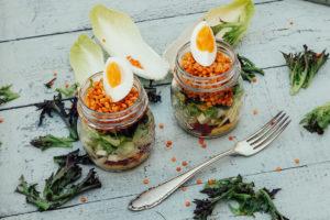 Gesundes Frühstück, gesund frühstücken, Frühstück Rezept, Dressing selber machen, Salat Rezept, Frühstück low carb, lactose frei