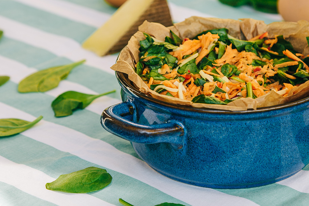 Himmlischer Süßkartoffel Spinat Auflauf Vegetarisch Und Lecker