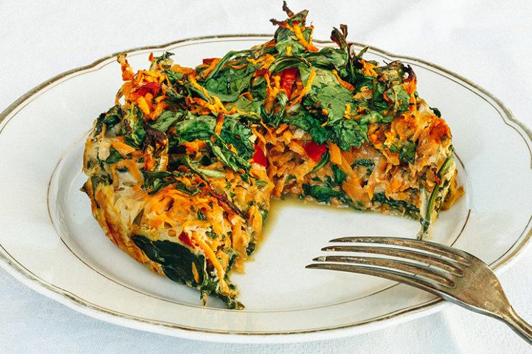 Gesundes Frühstück, gesund frühstücken, Frühstück Rezept, gesund frühstücken Rezept, Auflauf Rezept, Auflauf vegetarisch, Süßkartoffel, Auflauf