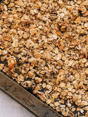 Granola Rezept, Granola gesund, Granola Müsli, gesund frühstücken, Granola selber machen, Frühstück Rezept, wie man Granola macht