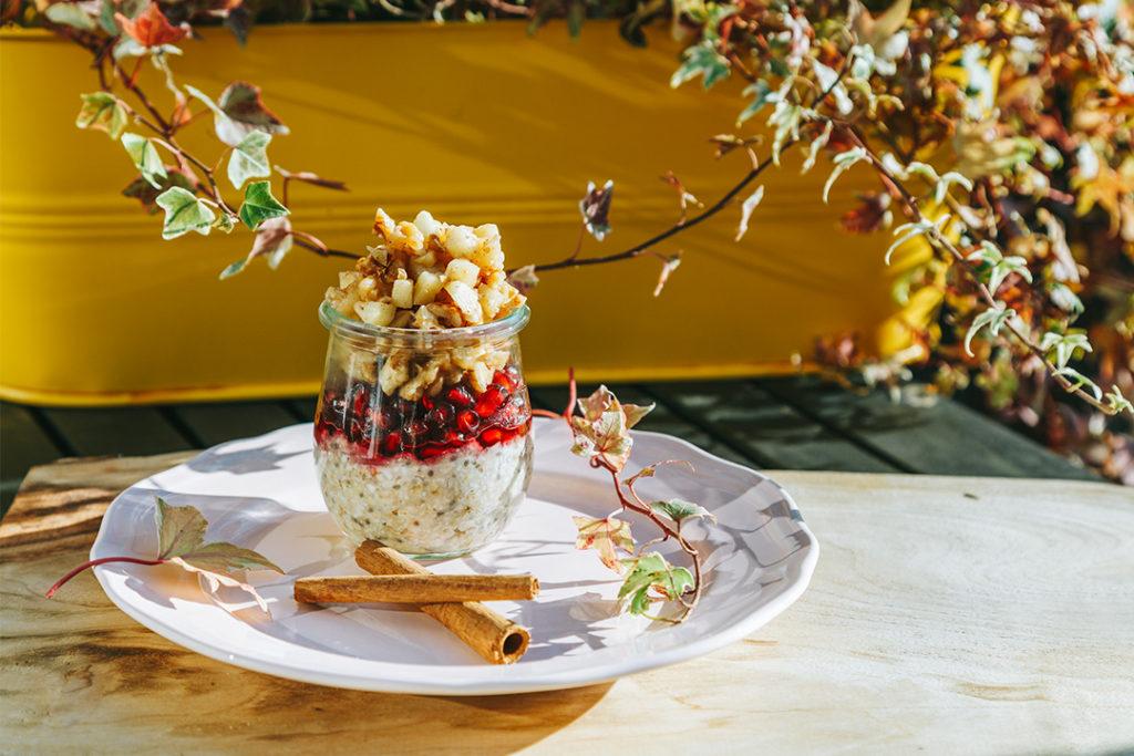 Vegan Zum Frühstückrezept Für Overnight Oats Mit Apfel Und Chia