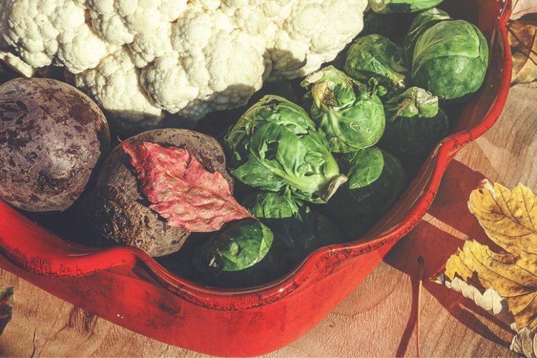 Gemüse, Rezept für Gemüse, Gemüse aus dem Ofen, Ofengemüse, low carb, Rosenkohl, Blumenkohl, Rote Beete