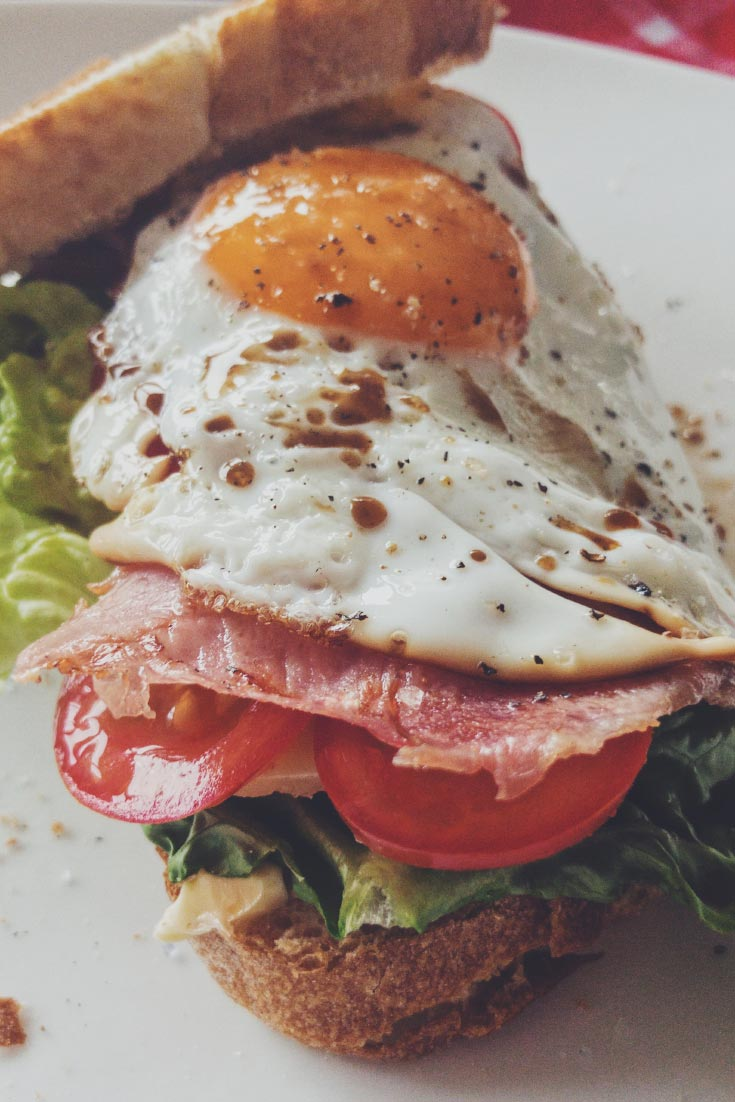 brot zeit sandwich rezept mit schinken tomaten salat. Black Bedroom Furniture Sets. Home Design Ideas