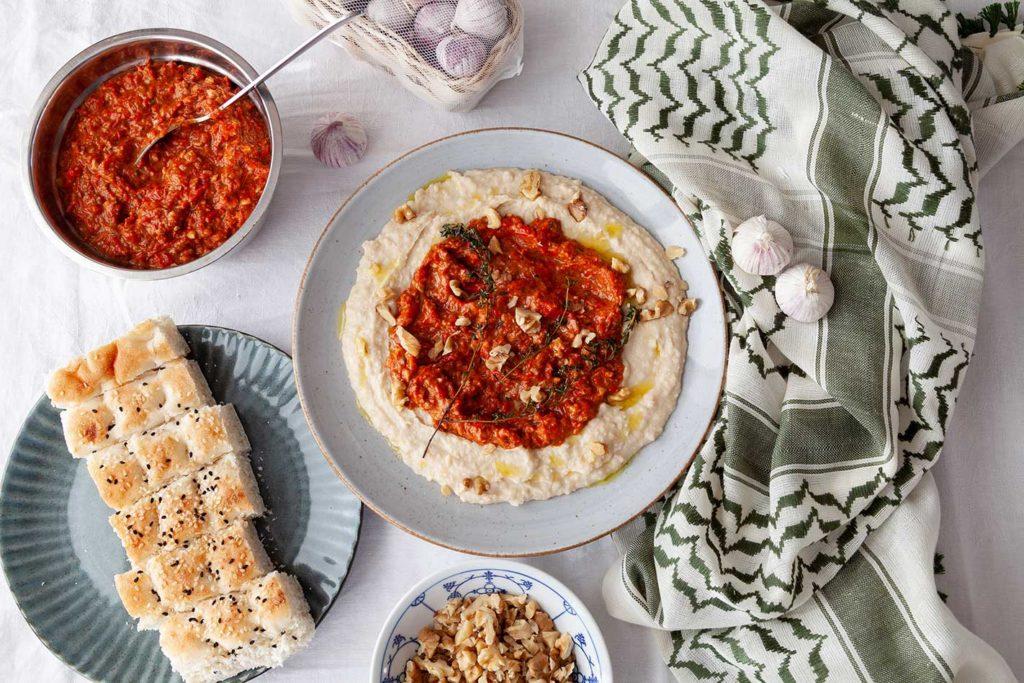 muhammara-rezept, muhammara rezept, muhammar rezept türkisch, muhammara rezept original, rezept muhammara syrische vorspeise, muhammara libanesisch, muhammara dip, muhammara vegan, walnuss dip