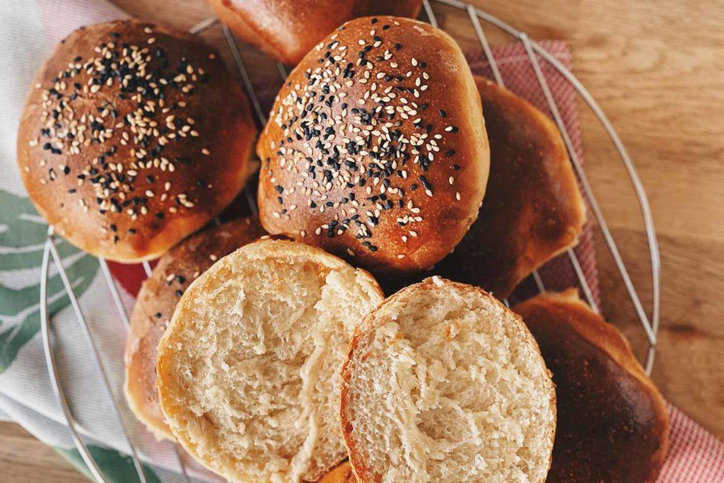Hamburger Brötchen selber machen, Hamburger Brötchen selber machen mit Trockenhefe, Hamburger Brötchen selber machen rezept,