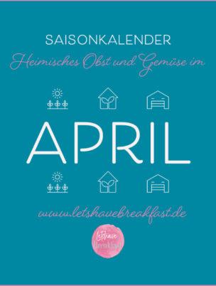 saisonkalender, Obst und gemüse, Obst und Gemüse liste, saisonkalender april