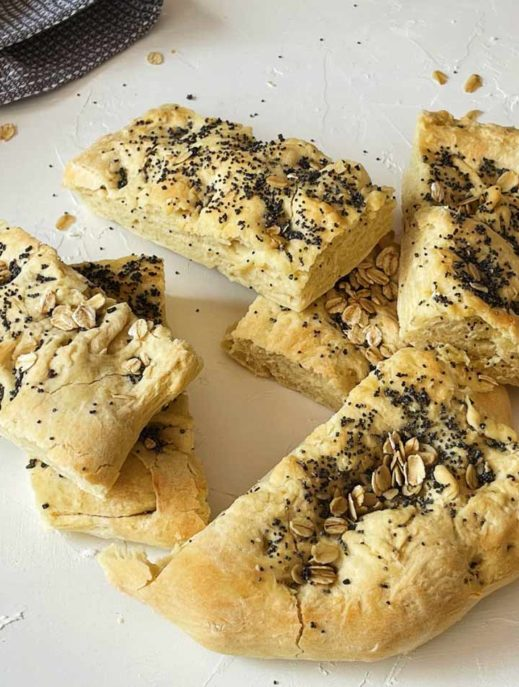 Original Focaccia Rezept als Frühstücksvariante