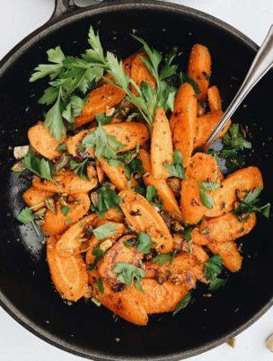 Möhrengemüse mal anders zubereitet mit Koriandersamen und Kreuzkümmel