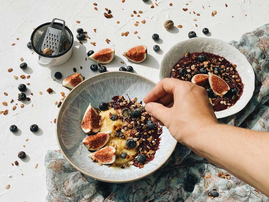 natürliche Süßmacher: Honig und Feigen
